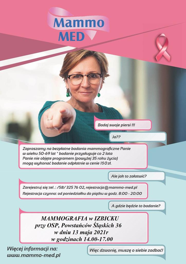 Mammografia w Izbicku - plakat.jpeg