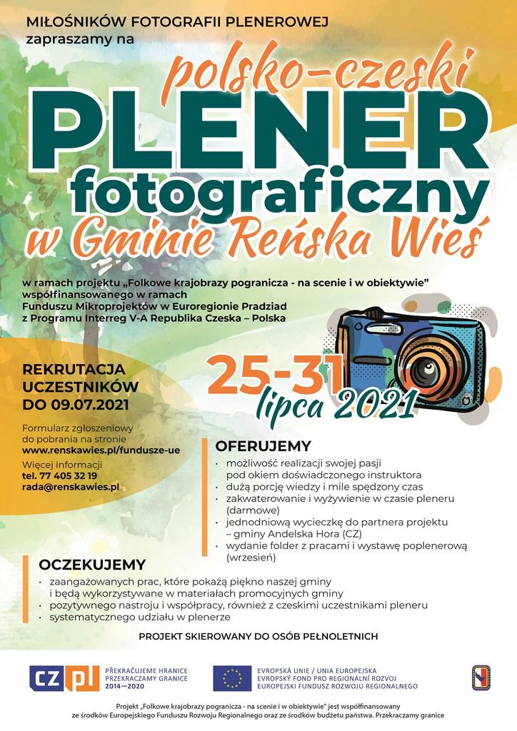 polsko-czeski Plener fotograficzny w Gminie Reńska Wieś - plakat.jpeg