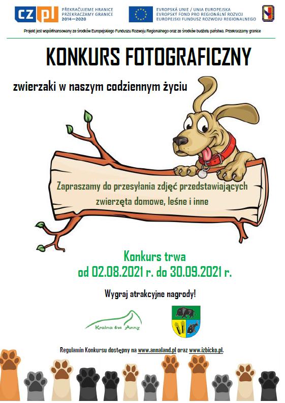 Konkurs fotograficzny - zwierzaki w naszym codziennym życiu - plakat.png