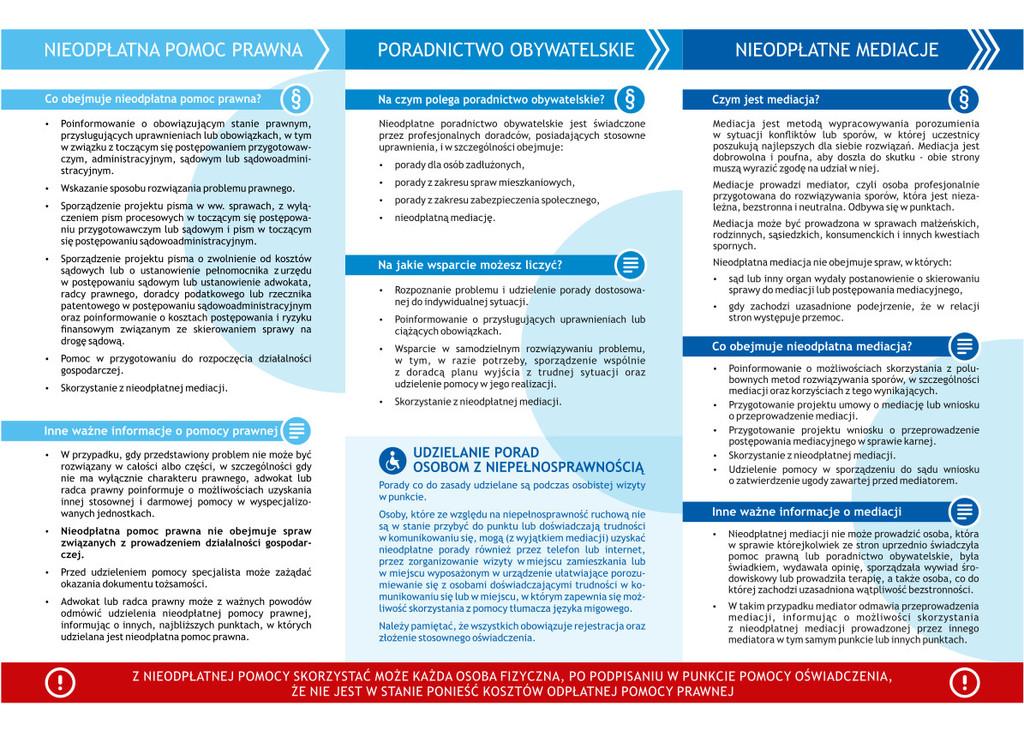 Informator Nieodpłatna Pomoc Prawna, Poradnictwo Obywatelskie, Nieodpłatne Mediacje.jpeg